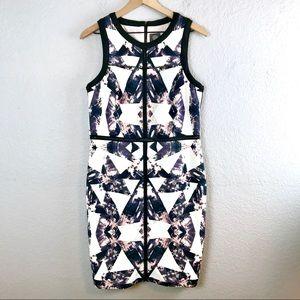 Vince Camuto Patterned Scuba Suit Dress